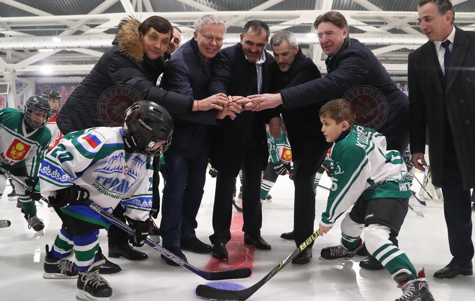 В Магасе открылась Хоккейная академия Вячеслава Фетисова «Башлоам»