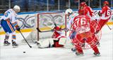Завершился товарищеский матч по хоккею «Легенды хоккея» - МЧС
