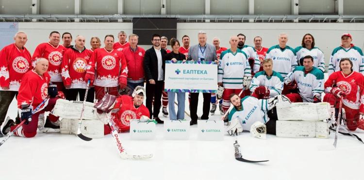 Еаптека поддерживает команду «Легенды хоккея СССР»
